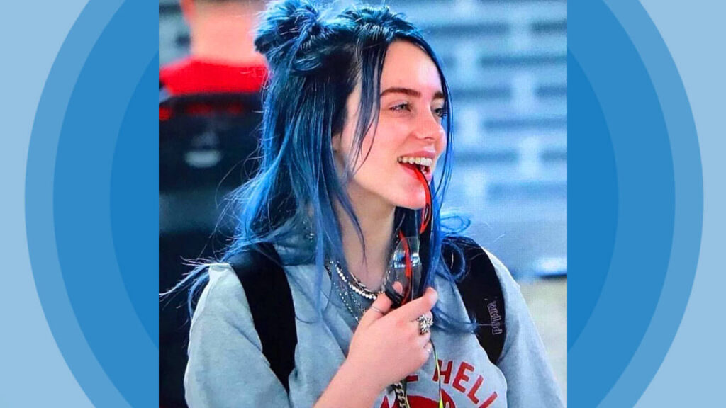 Billie Eilish Blue Hair